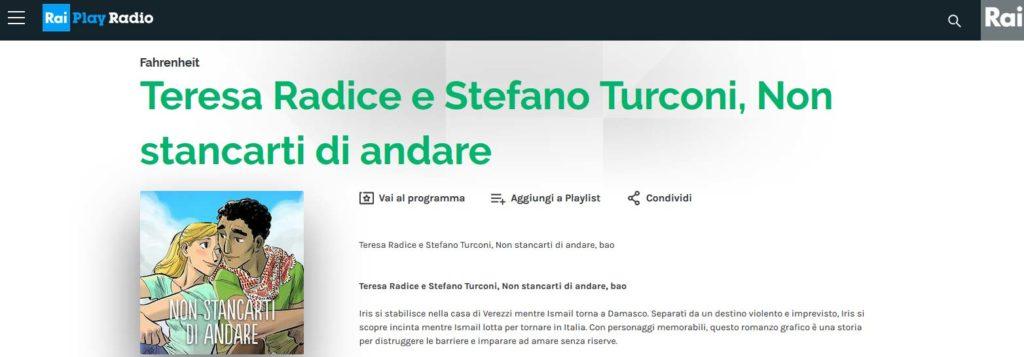 Non stancarti di andare di Stefano Turconi e Teresa Radice